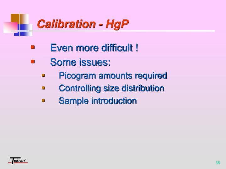 Calibration - HgP