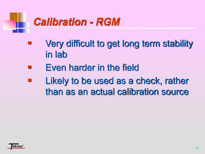 Calibration - RGM