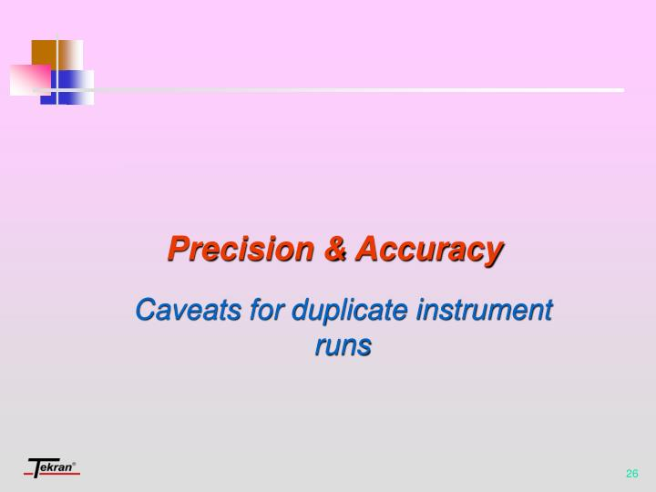 Caveats for duplicate instrument runs