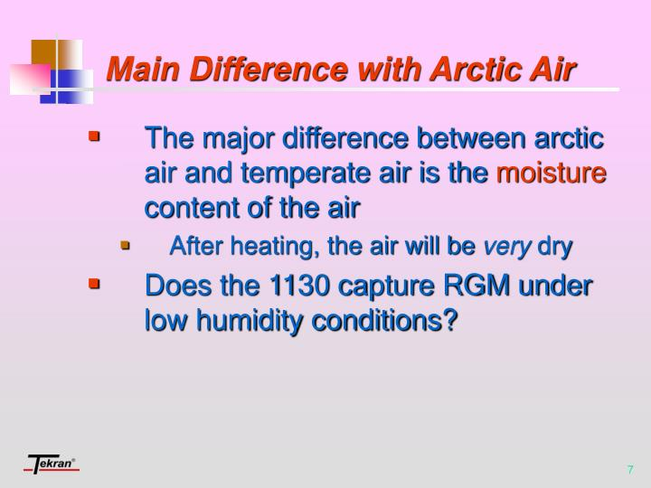 Main Difference with Arctic Air