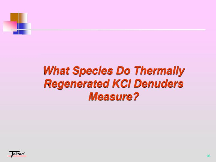 What Species Do Thermally Regenerated KCl Denuders Measure?