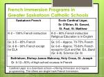 french immersion programs in greater saskatoon catholic schools