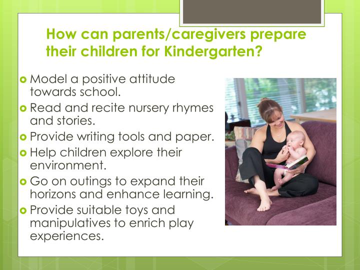 How can parents/caregivers prepare