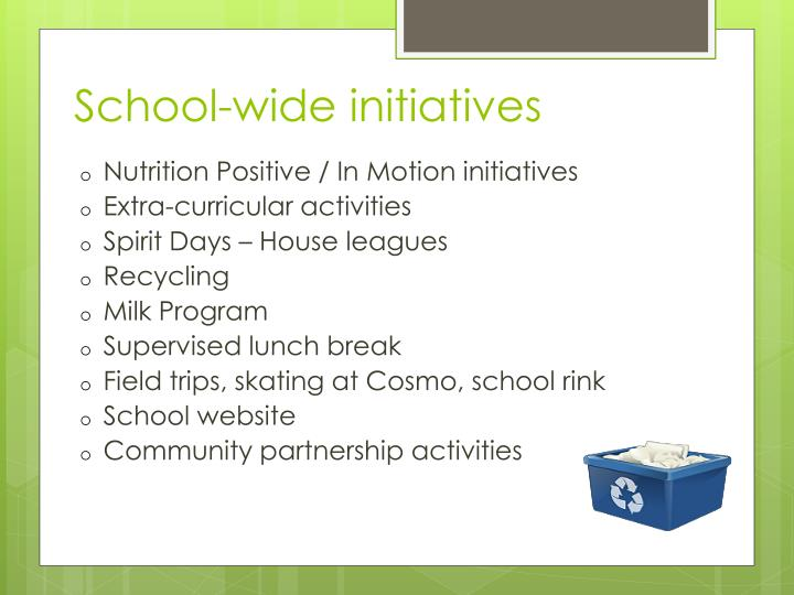 School-wide initiatives