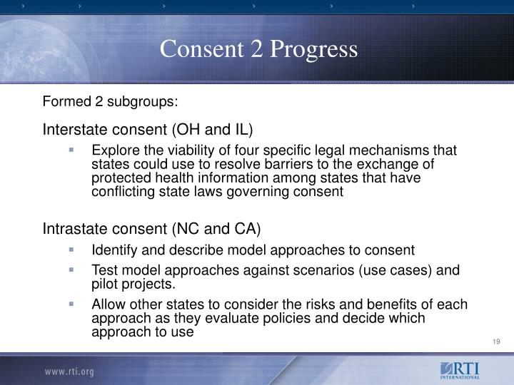 Consent 2 Progress