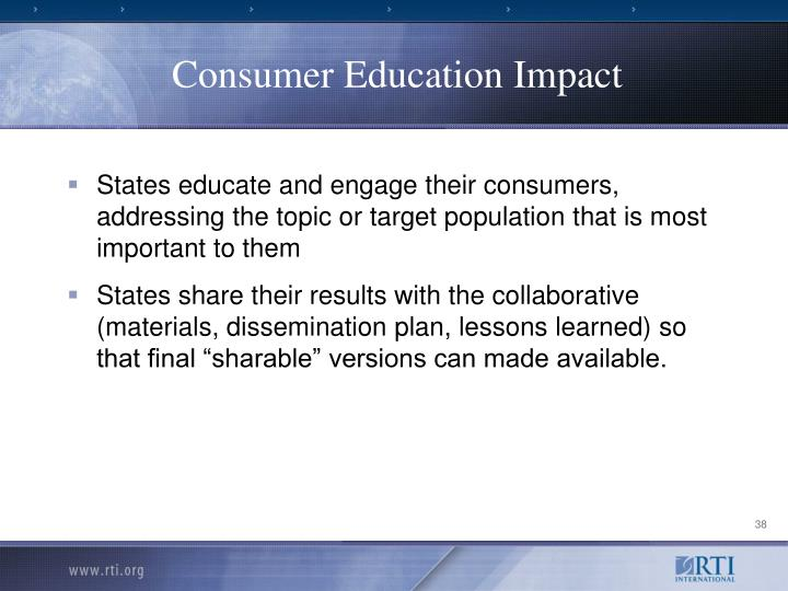 Consumer Education Impact