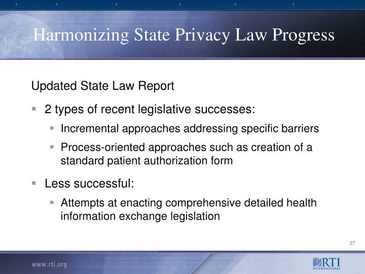 Harmonizing State Privacy Law Progress