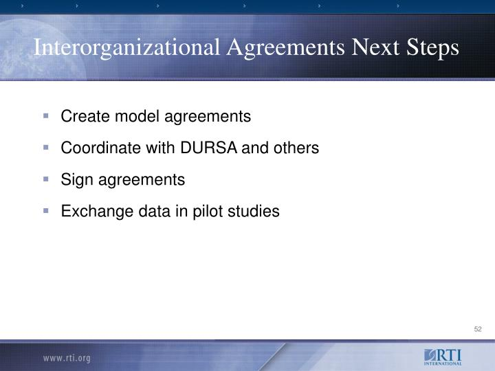 Interorganizational Agreements Next Steps