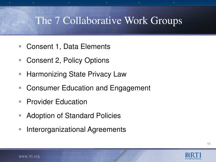 The 7 Collaborative Work Groups