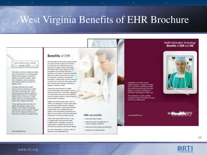 West Virginia Benefits of EHR Brochure