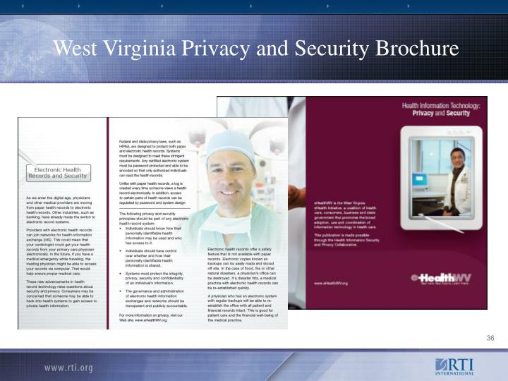 West Virginia Privacy and Security Brochure