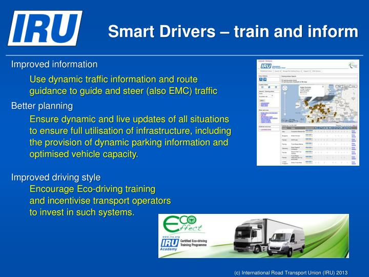 Smart Drivers – train and inform