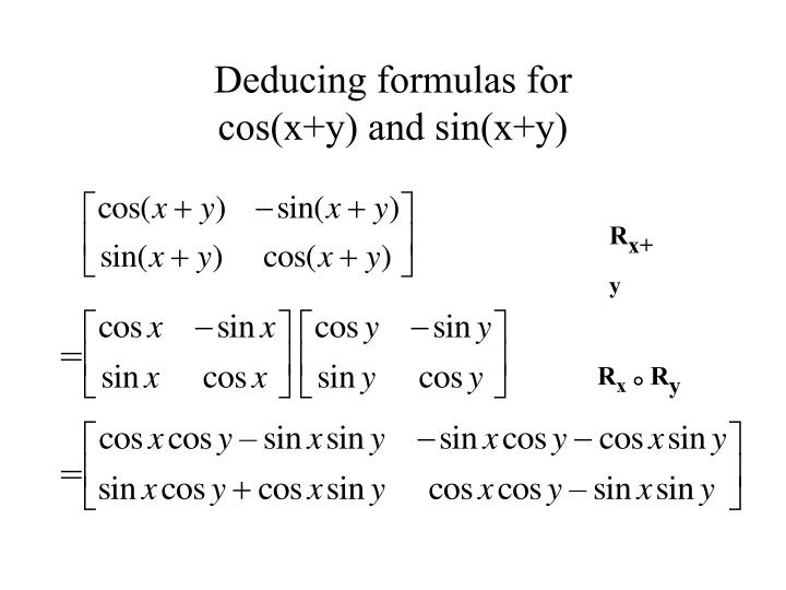 Deducing formulas for