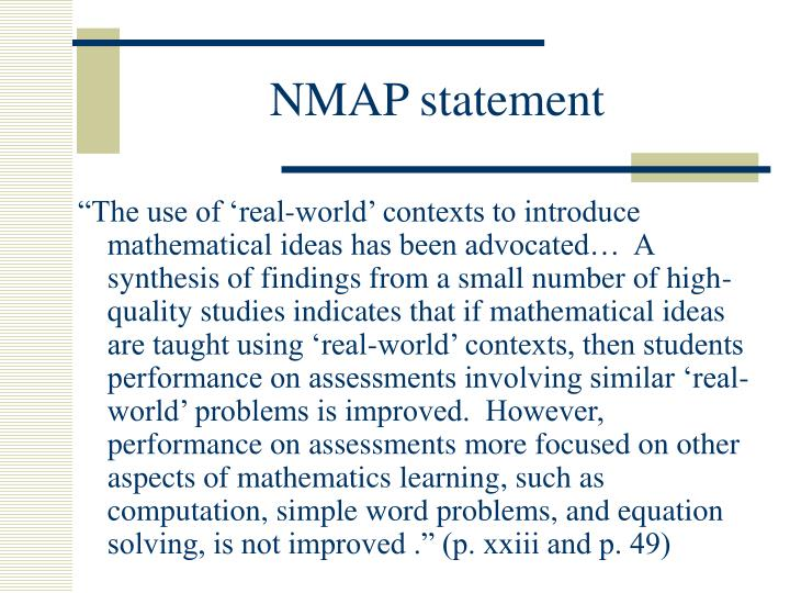 NMAP statement