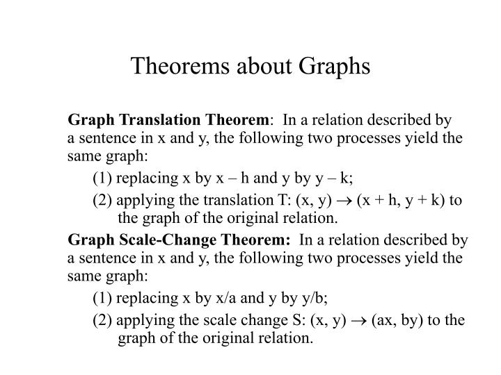 Theorems about Graphs