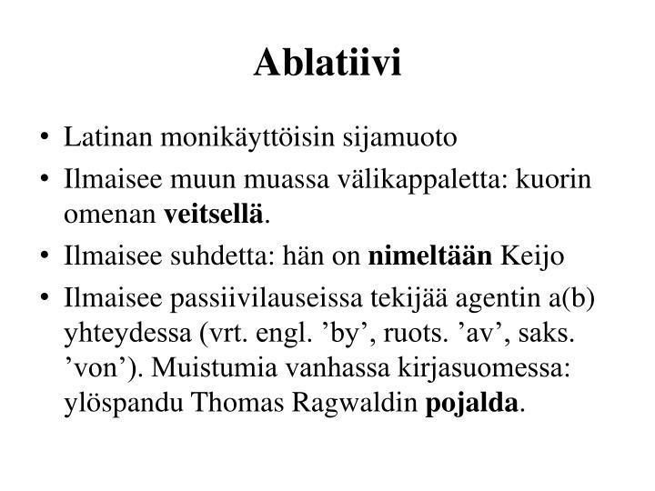 Ablatiivi