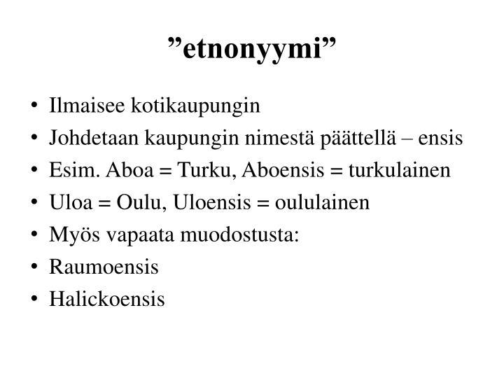 """""""etnonyymi"""""""