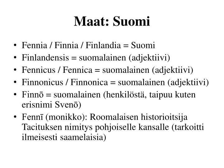 Maat: Suomi