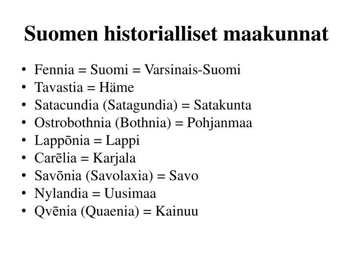 Suomen historialliset maakunnat