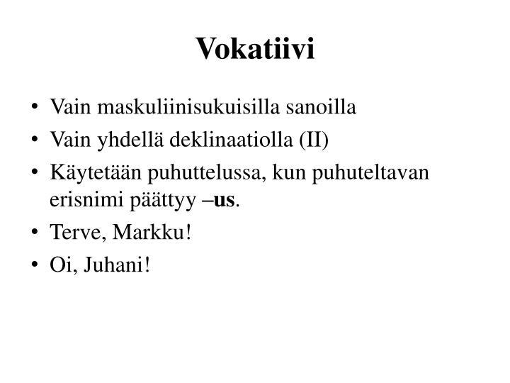 Vokatiivi