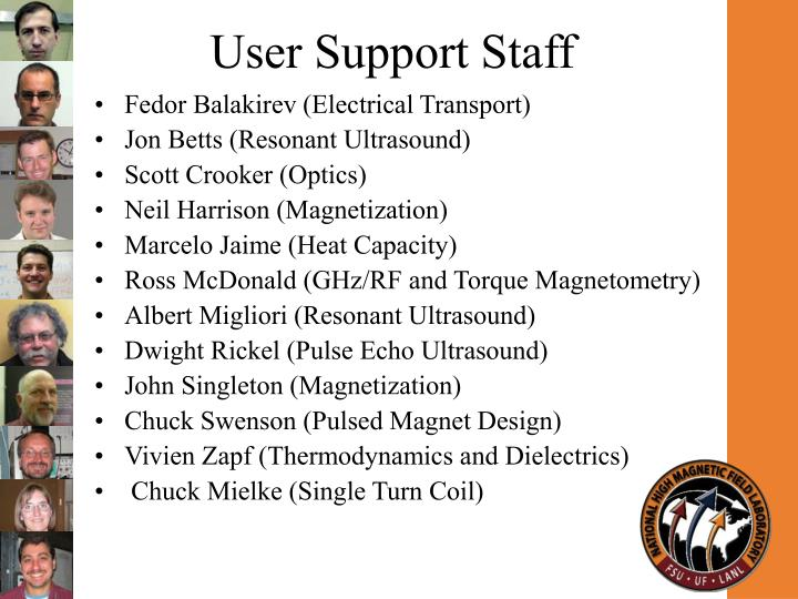 User support staff