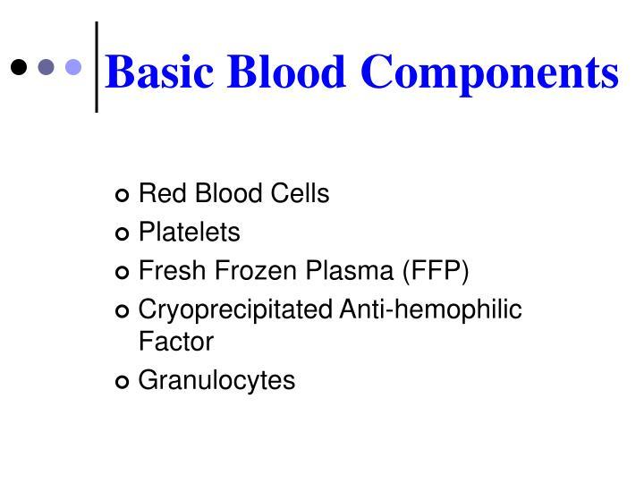 Basic Blood Components