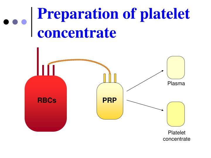 Preparation of platelet concentrate