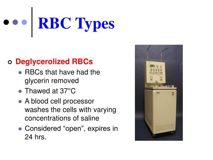 RBC Types