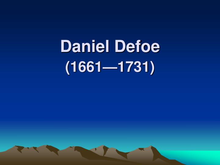 daniel defoe 1661 1731