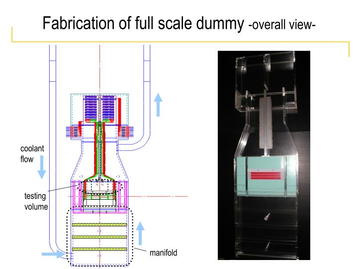Fabrication of full scale dummy