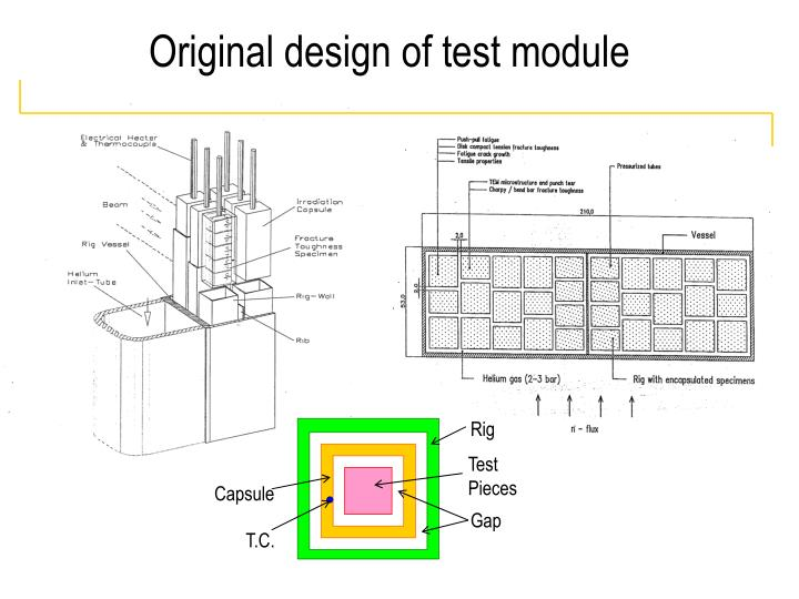 Original design of test module