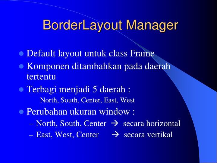 BorderLayout Manager