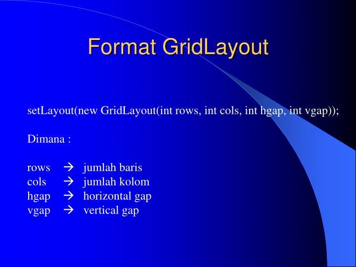 Format GridLayout