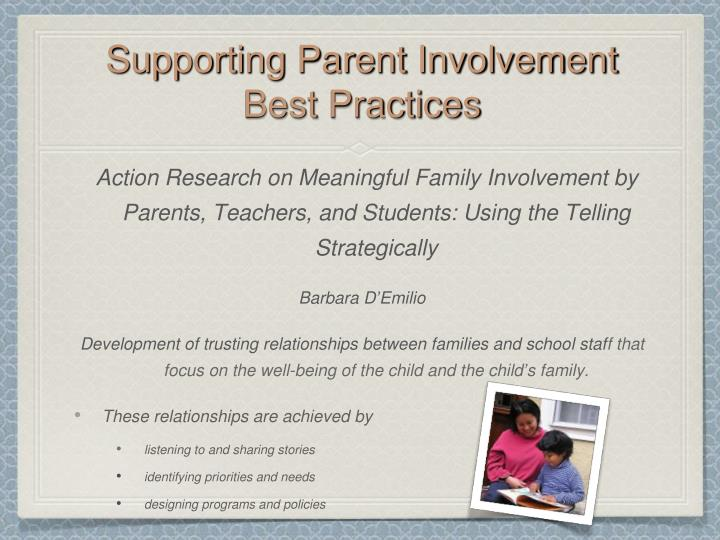 Supporting Parent Involvement