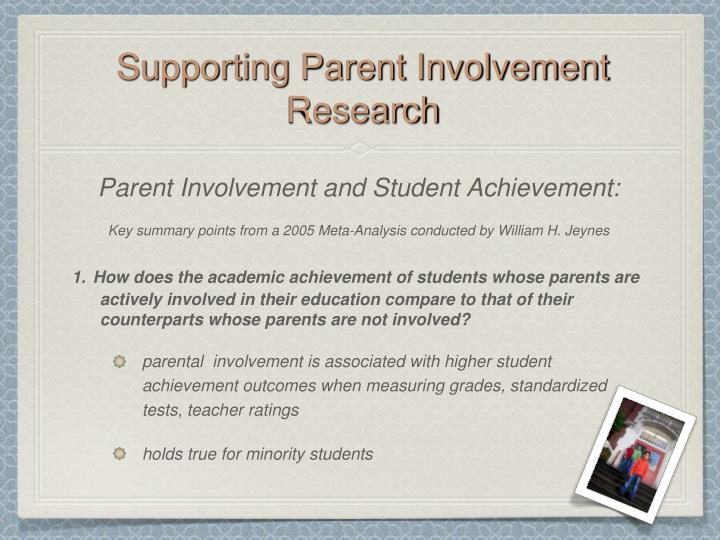 Supporting Parent Involvement Research