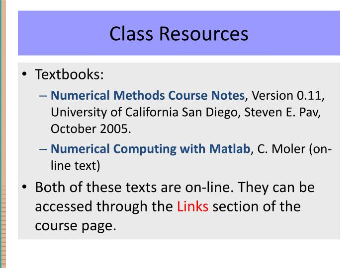 Class Resources