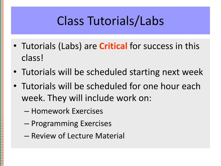 Class Tutorials/Labs