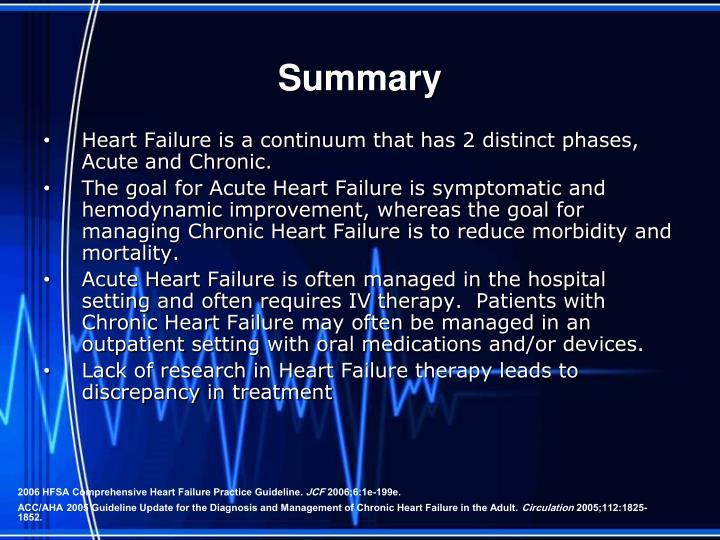 Ppt Acute Vs Chronic Heart Failure Powerpoint