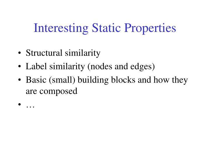 Interesting Static Properties