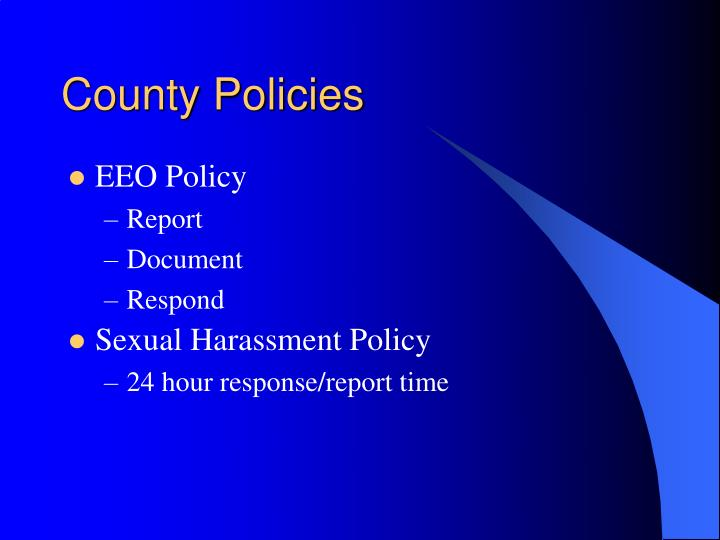 County Policies