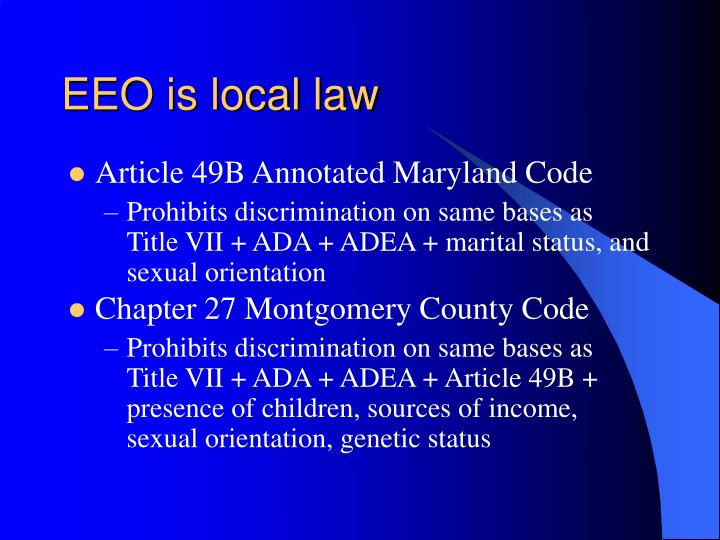 EEO is local law