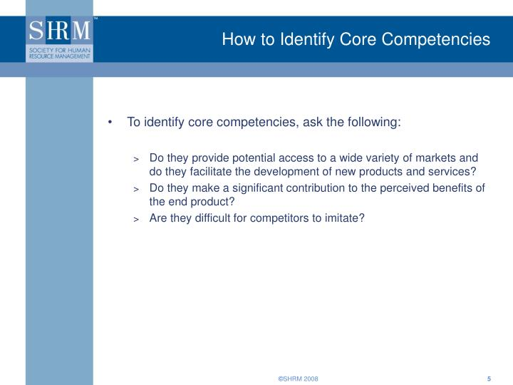 How to Identify Core Competencies