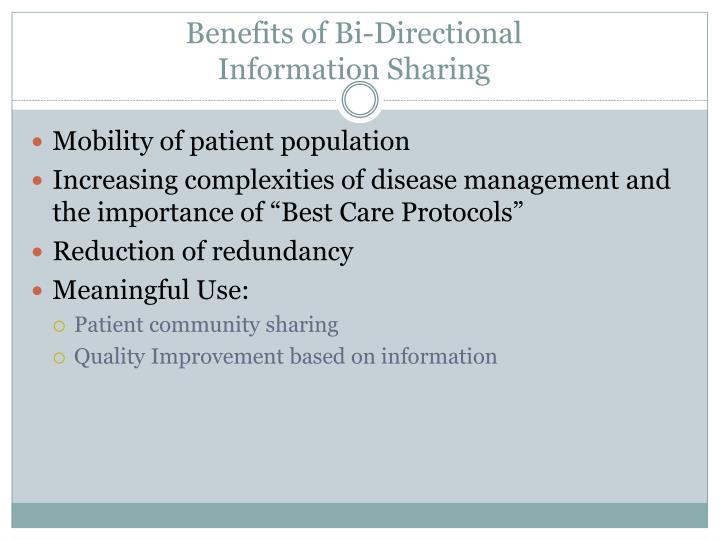 Benefits of Bi-Directional