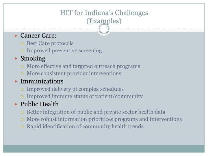 HIT for Indiana's Challenges
