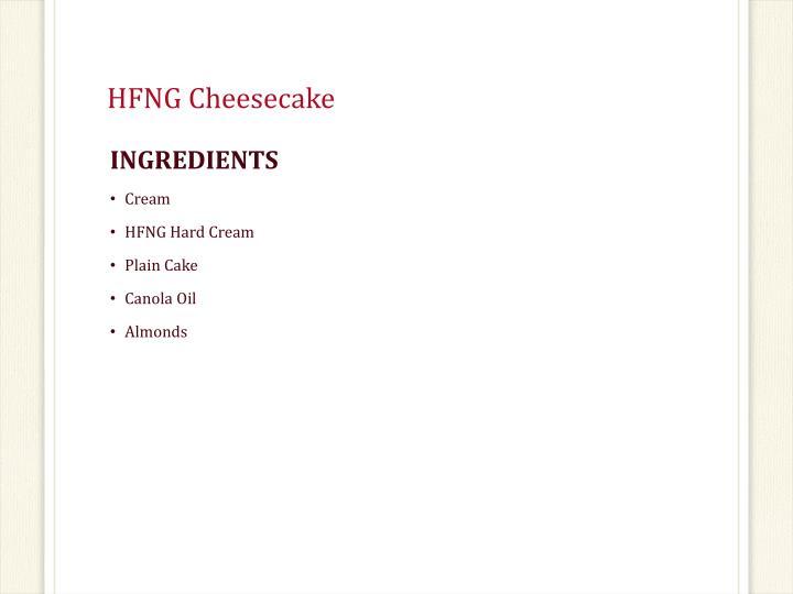 HFNG Cheesecake