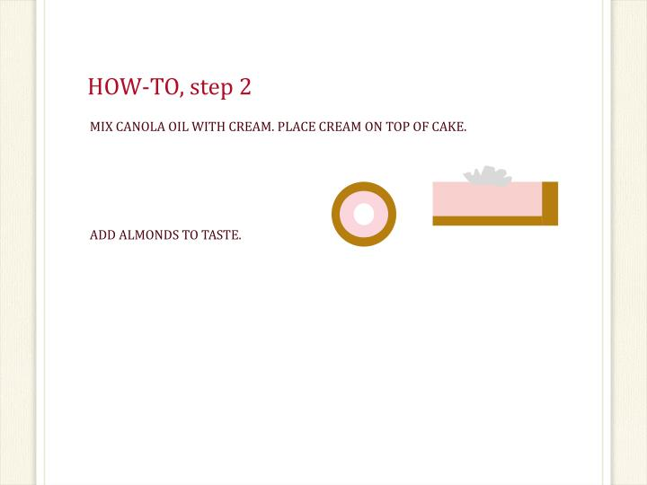 HOW-TO, step 2