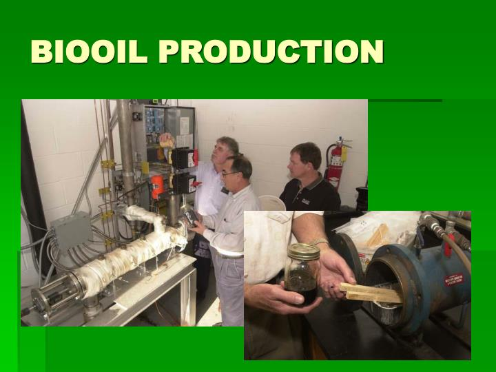 BIOOIL PRODUCTION