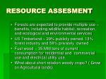 resource assesment
