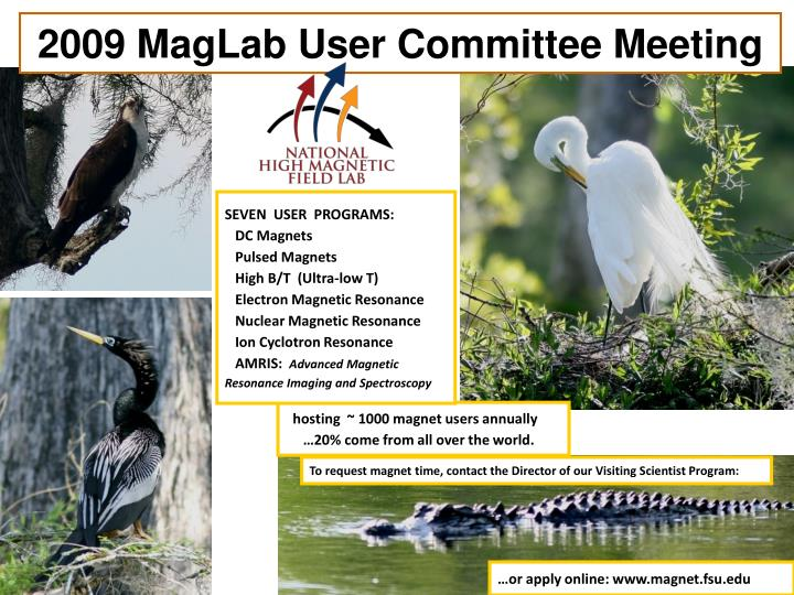 2009 MagLab User Committee Meeting