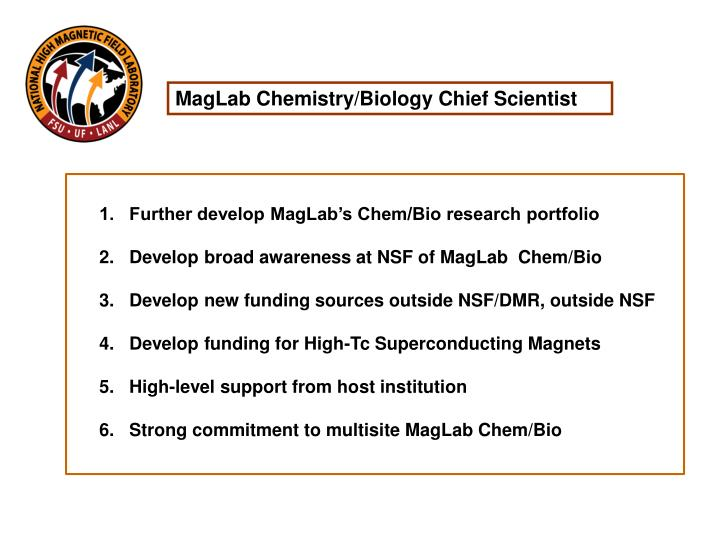 MagLab Chemistry/Biology Chief Scientist
